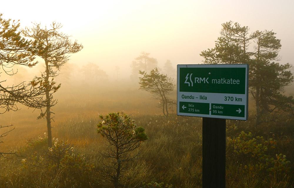 Oandu - Ikla trail in Estonia.