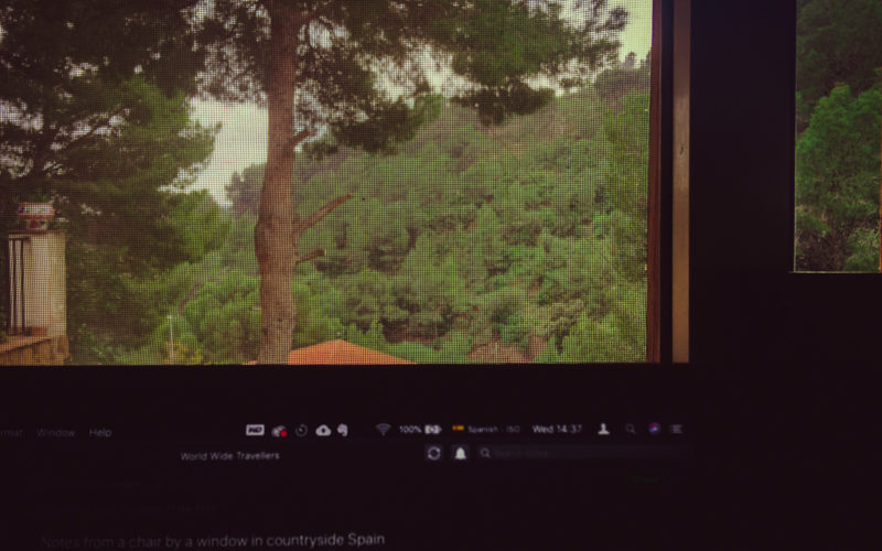 View throw my window in countryside Spain.