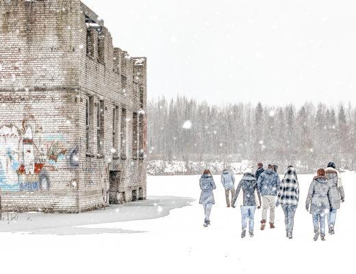 Rummu Quarry, Estonia, in winter