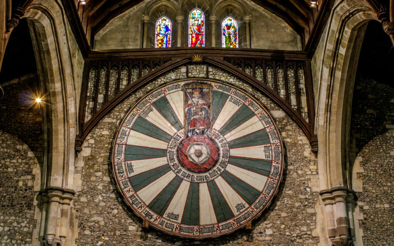 The Round Table Of King Arthur Turning, Winchester Cathedral Round Table