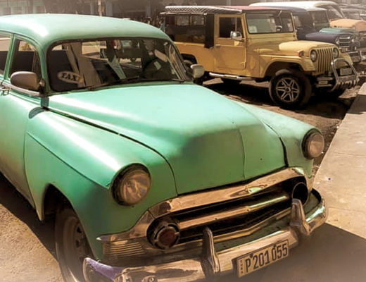 Old car in Havana, Cuba.